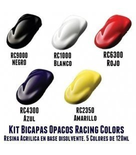 Kit 5 Pinturas Opacas Racing Colors (5ud x 120ml)
