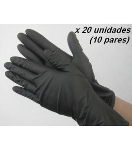 Gloves Nitrillo Extra Hard Black (20ud)