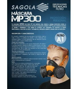 Màscara MP300 de Sagola
