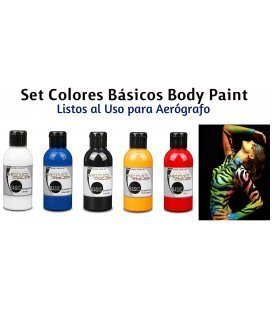 Kit de Tintas Body Paint Básicos Senjo (5ud x 75ml)