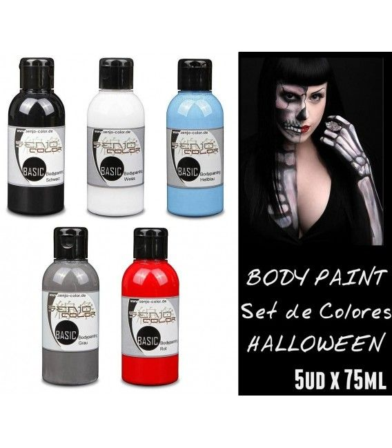 Kit Body Paint Halloween Senjo (5ud x 75ml)