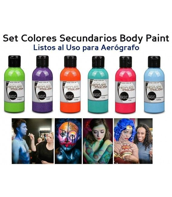 Kit Pinturas Body Paint Secundarios Senjo (5ud x 75ml)