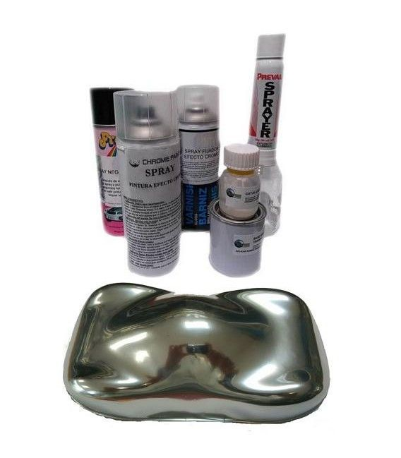 Kit Sprays Efeito Cromo Metalchrome - COMPLETO (4 Sp)