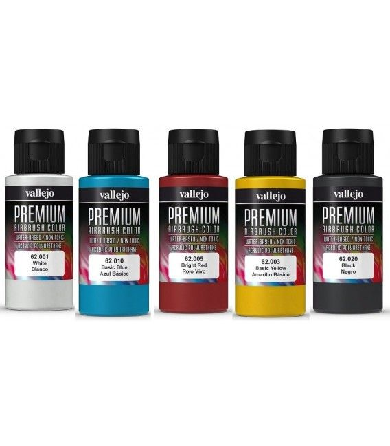 Packs Paints Vallejo Premium (60ml x 5ud) (-20%)
