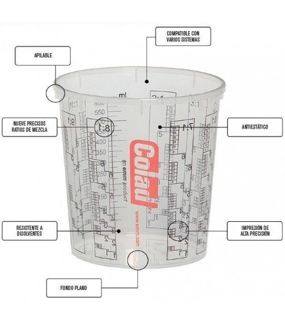 Becher Mix-1400ml COLAD (Pack 5ud)