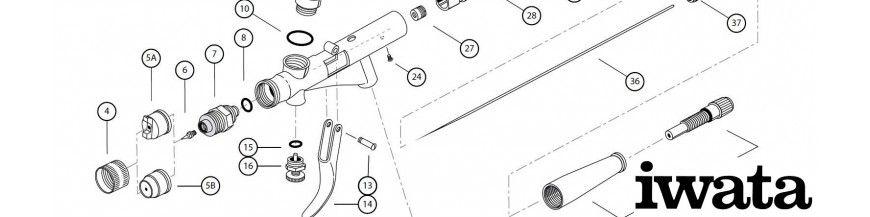 Spare Parts Spray Guns, Iwata