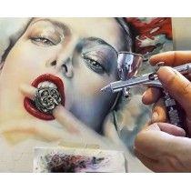Malerei, Airbrush Illustration