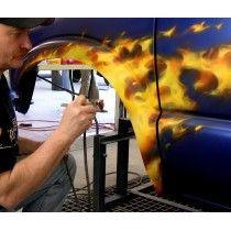Malerei Airbrush Echtes Feuer