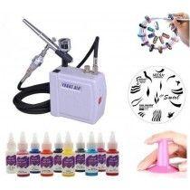 Sets Nail Airbrushing